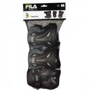 Kit De Proteção Fila Fitness FP Preto - P