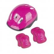 Kit Patins Radical Roller Infantil Completo com Capacete e Proteções Bel Sports