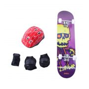 Kit Proteção Completo + Skate Radical - Bel Sports
