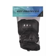Kit Proteção Infantil  Rollers  Skates Rosa / Preto / Azul P