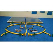 Kit Tênis De Mesa ( Ping Pong ) Com Mesa Raquetes E Rede - Fácil Esporte
