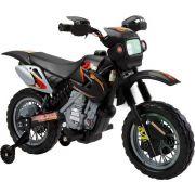 Moto Cross Preta Elétrica Infantil 6V - Belfix