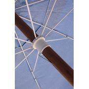 Ombrellone Guarda Sol De Madeira Cobertura Em Pvc Bagum  2,00 M Azul