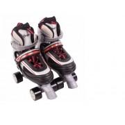 Roller Patins Clássico Top 4 Rodas Tamanho M Ajustável (33 a 36) Vermelho