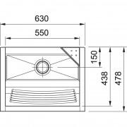 Tanque TS550 Com Espelho Sem Forro Franke - Alto Brilho
