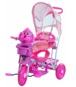 Triciclo Infantil 2 Em 1 Com Capota Rosa Belfix