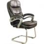 Cadeira Interlocutor Pelegrin Pel-9018V Marrom E Tabaco