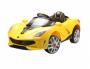 Carro Elétrico Sport Luxo Amarelo Com Controle 12V