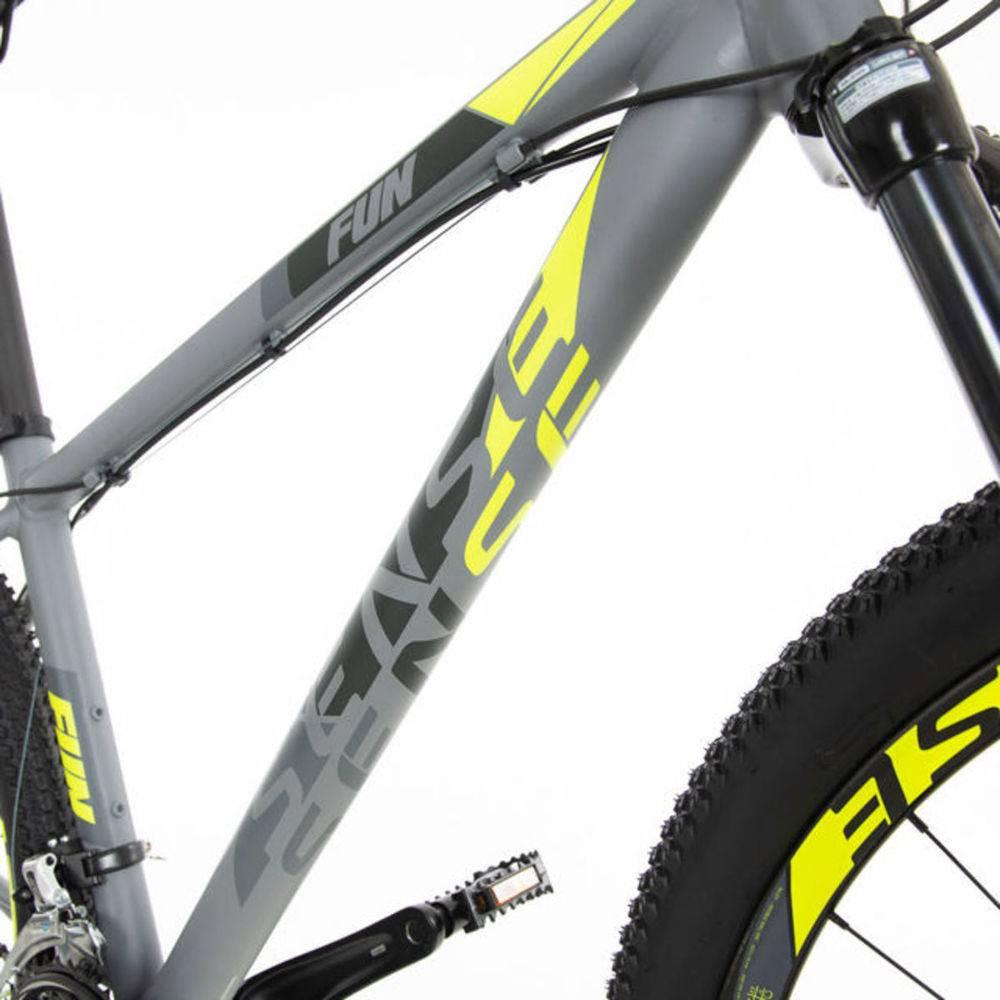 Bicicleta MTB Fun Sense Amarela 2020 - Tamanho S