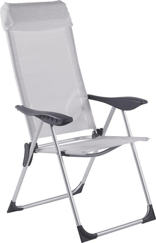 Cadeira Alta 5 Posições Alumínio Branca