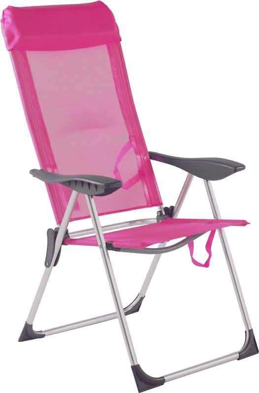 Cadeira Alta 5 Posições Alumínio Rosa