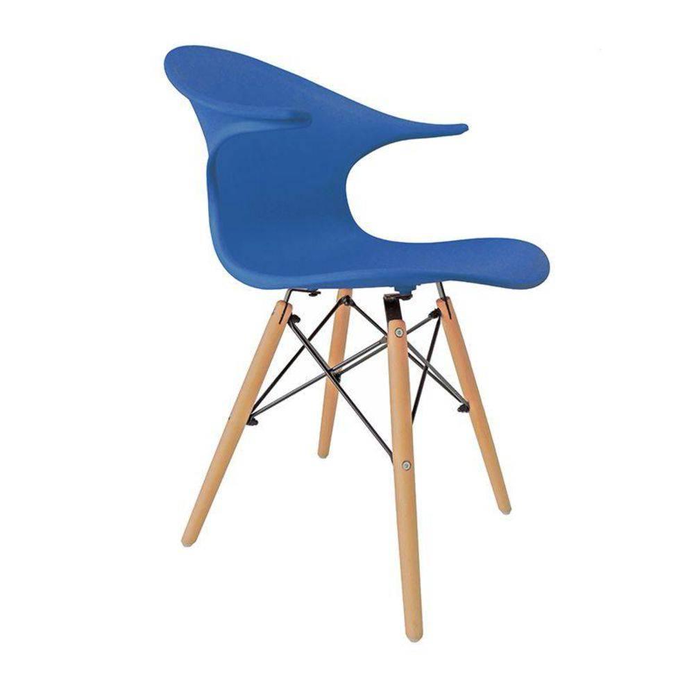 Cadeira Charles Eames New Wood Design Pelegrin PW-079 Azul