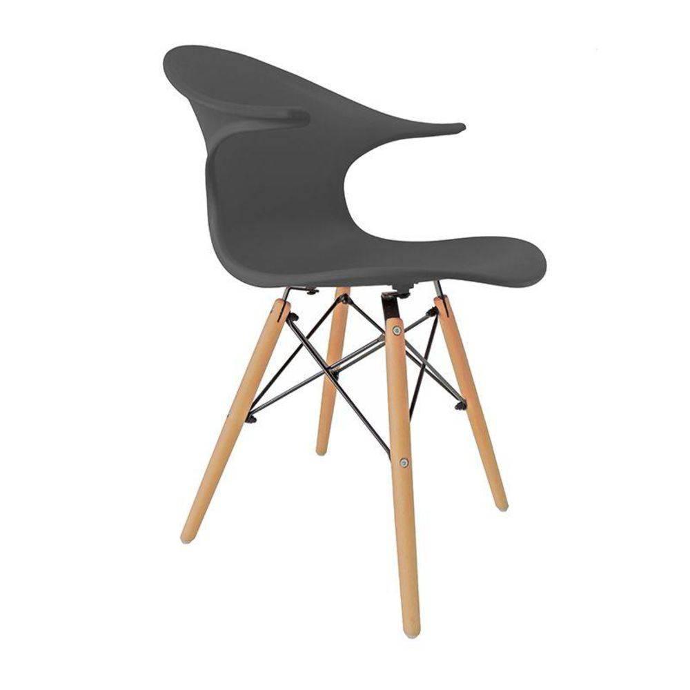 Cadeira Charles Eames New Wood Design Pelegrin PW-079 Cinza Escuro
