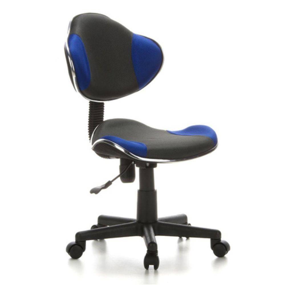 Cadeira de Escritório Secretaria Pelegrin PEL-S653 Preto / Azul