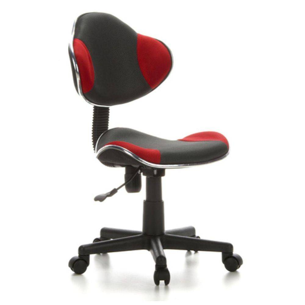 Cadeira de Escritório Secretaria Pelegrin PEL-S653 Preto / Vermelho