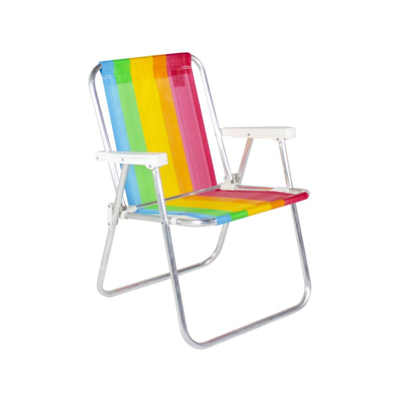 Cadeira De Praia Alta Alumínio Cores Diversas - Belfix
