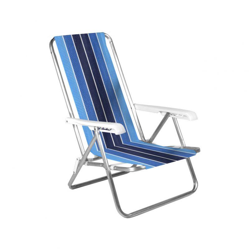 Cadeira De Praia Reclinável 4 Posições Alumínio - Belfix