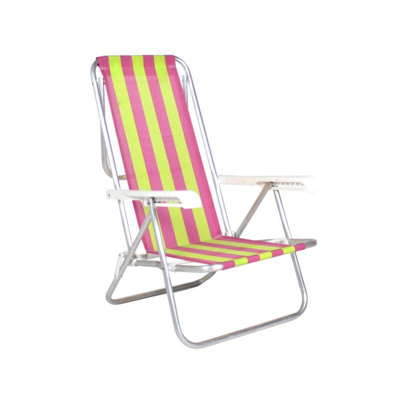 Cadeira De Praia Reclinável 8 Posições Alumínio - Belfix
