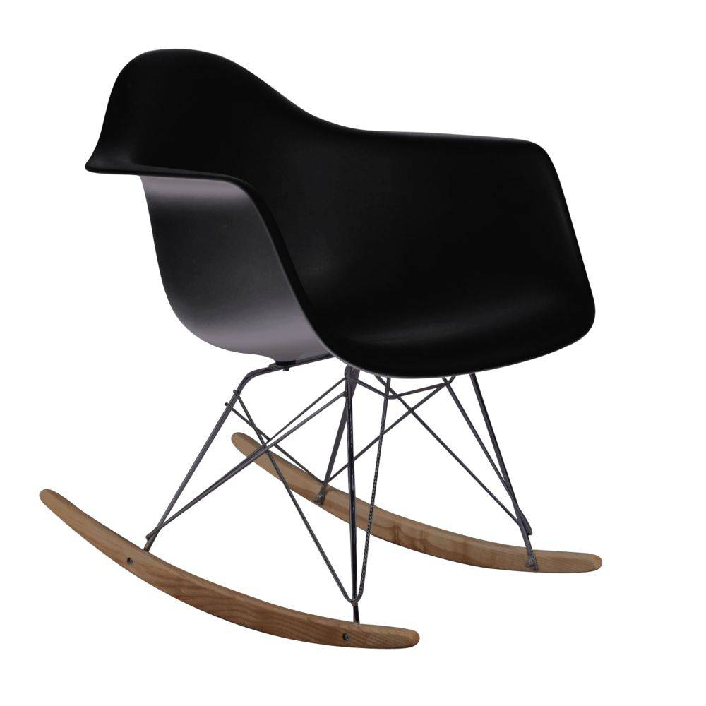Cadeira Design De Balanço Charles Eames PM084 Preto