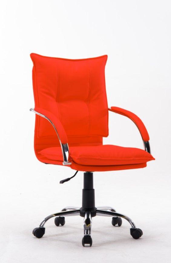 Cadeira Diretor Pelegrin Pel-280 Couro Pu Vermelha