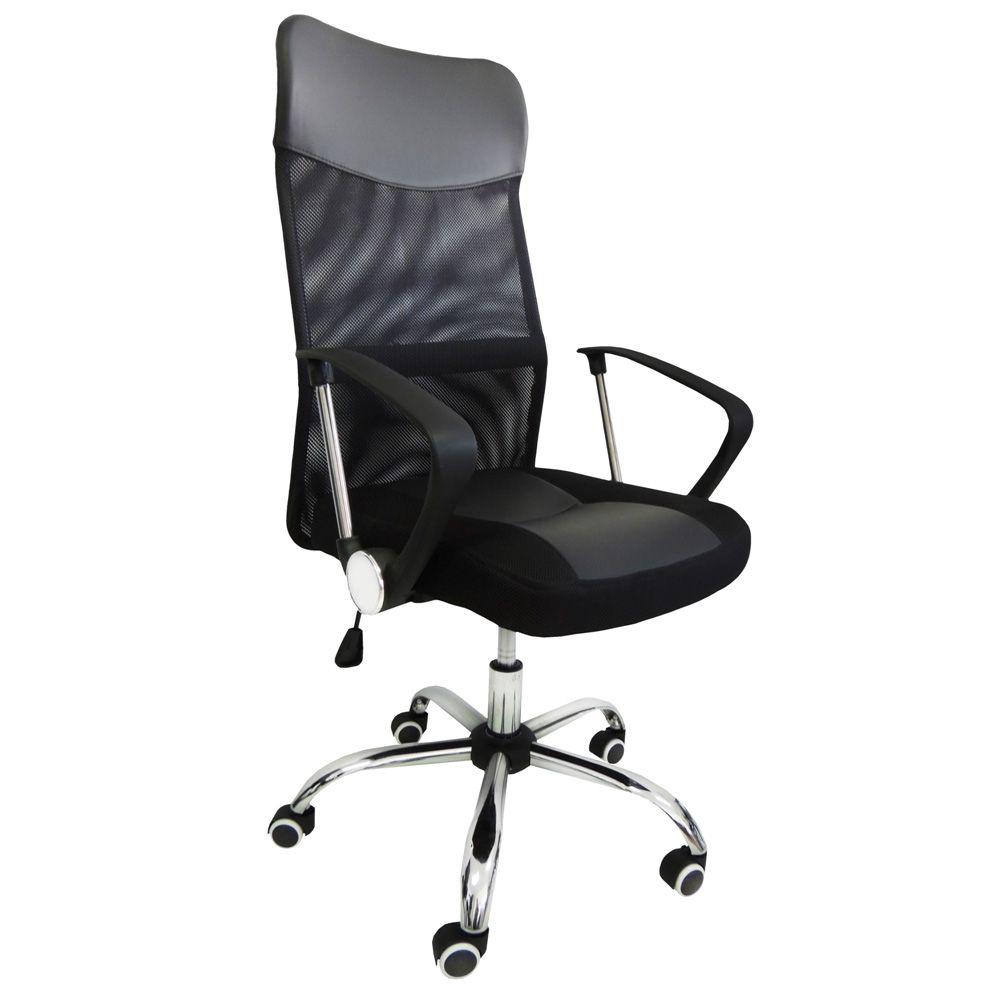 Cadeira Escritório Presidente Em Tela Mesh Pel-8009 Pelegrin
