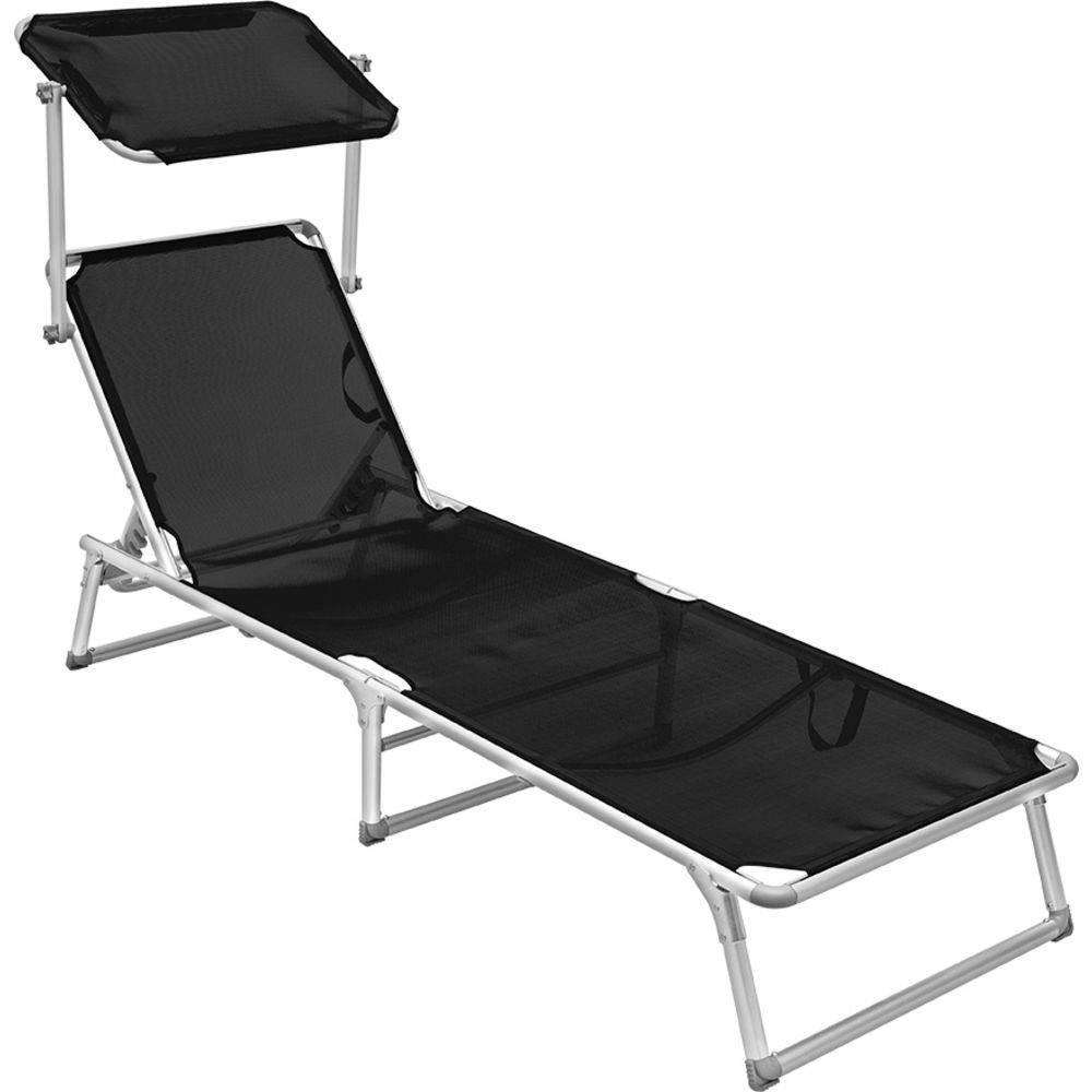 Cadeira Espreguiçadeira Búzios Em Alumínio - Preto