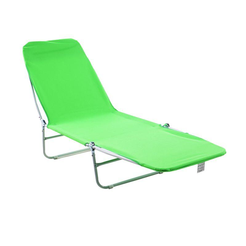 Cadeira Espreguiçadeira Dobrável Poliéster Verde - Belfix