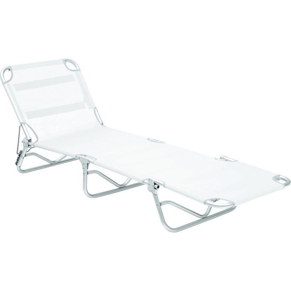 Cadeira Espreguiçadeira Em Alumínio Dobrável Adulto - Branco