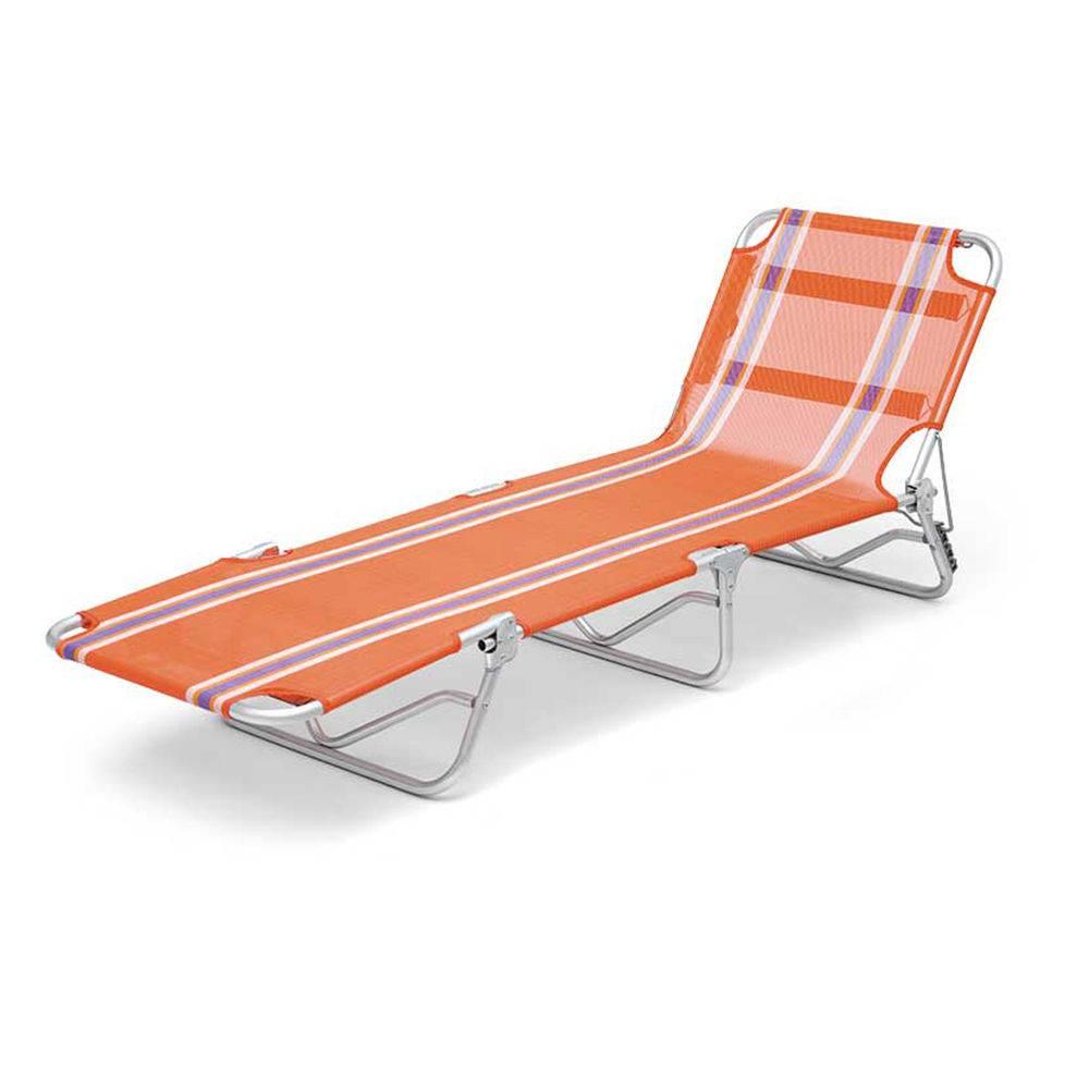 Cadeira Espreguiçadeira Em Alumínio Dobrável Adulto - Listrada
