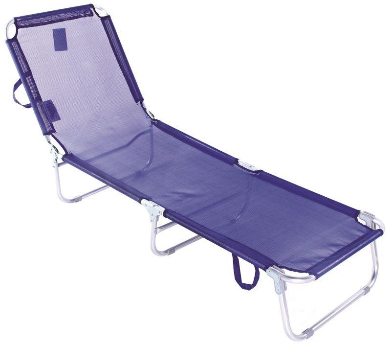 Cadeira Espreguiçadeira Em Alumínio Dobrável Com Catraca -
