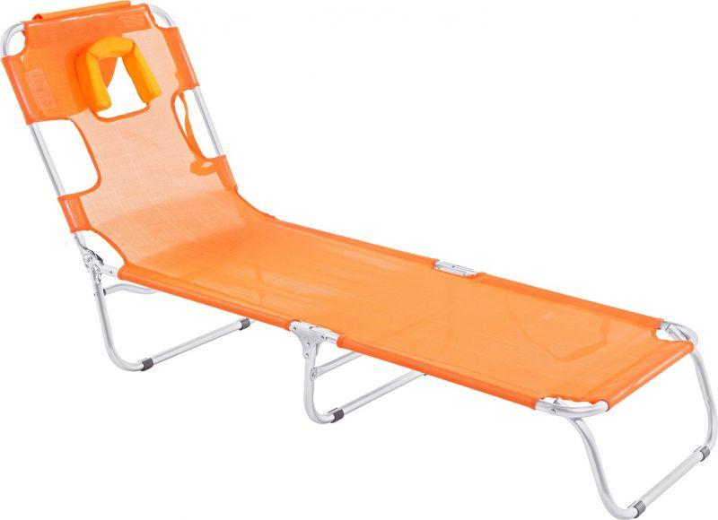 Cadeira Espreguiçadeira Mormaii com Travesseiro Laranja