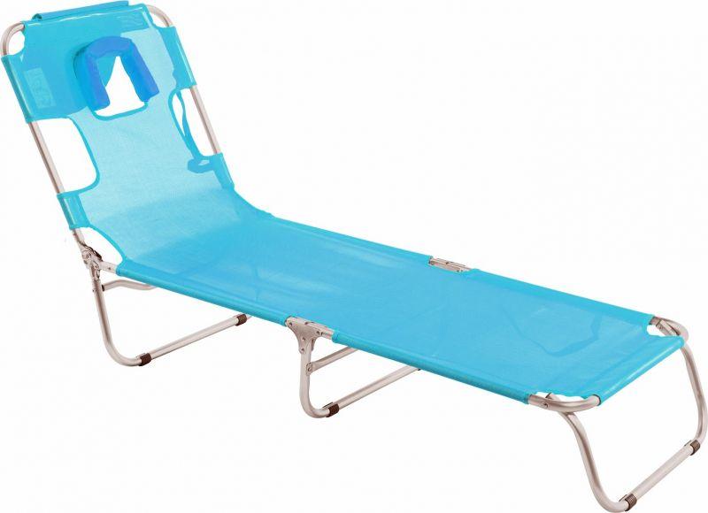 Cadeira Espreguiçadeira Mormaii com Travesseiro Turquesa