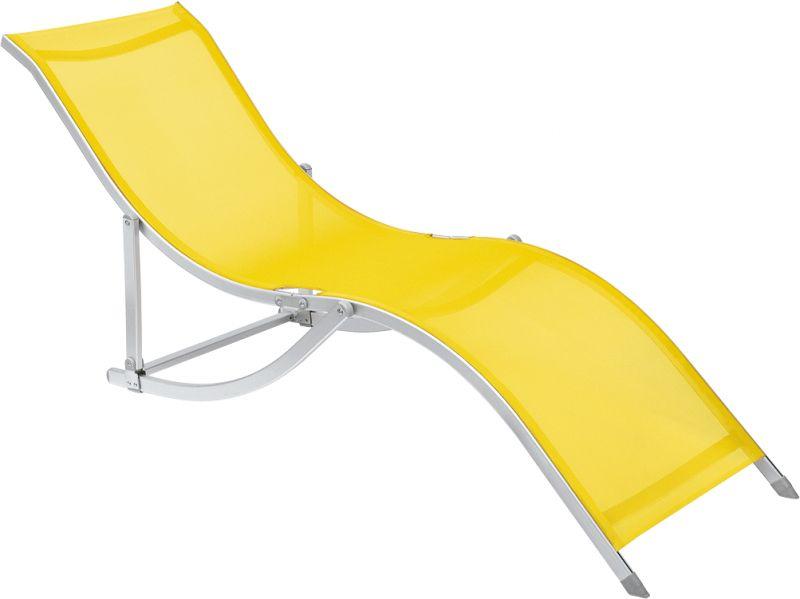 Cadeira Espreguiçadeira S Aluminio Textilene - Amarelo