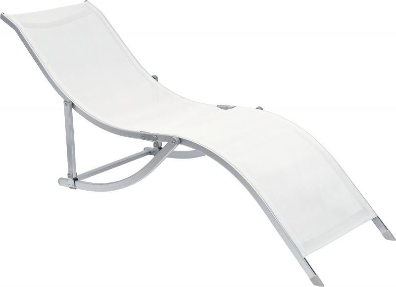 Cadeira Espreguiçadeira  S Designer Alumínio Branca