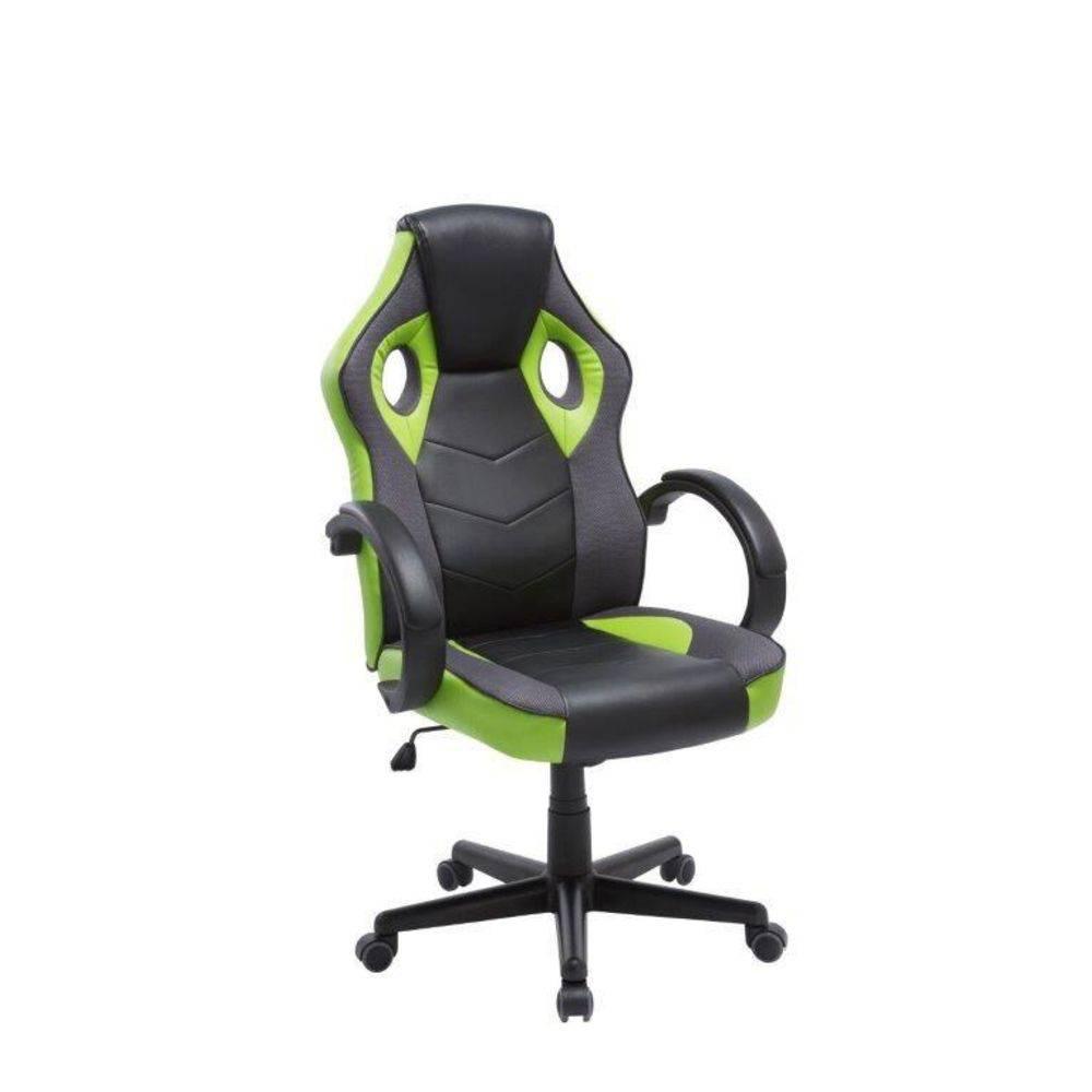 Cadeira Gamer Giratória Preta E Verde League PEL-3016