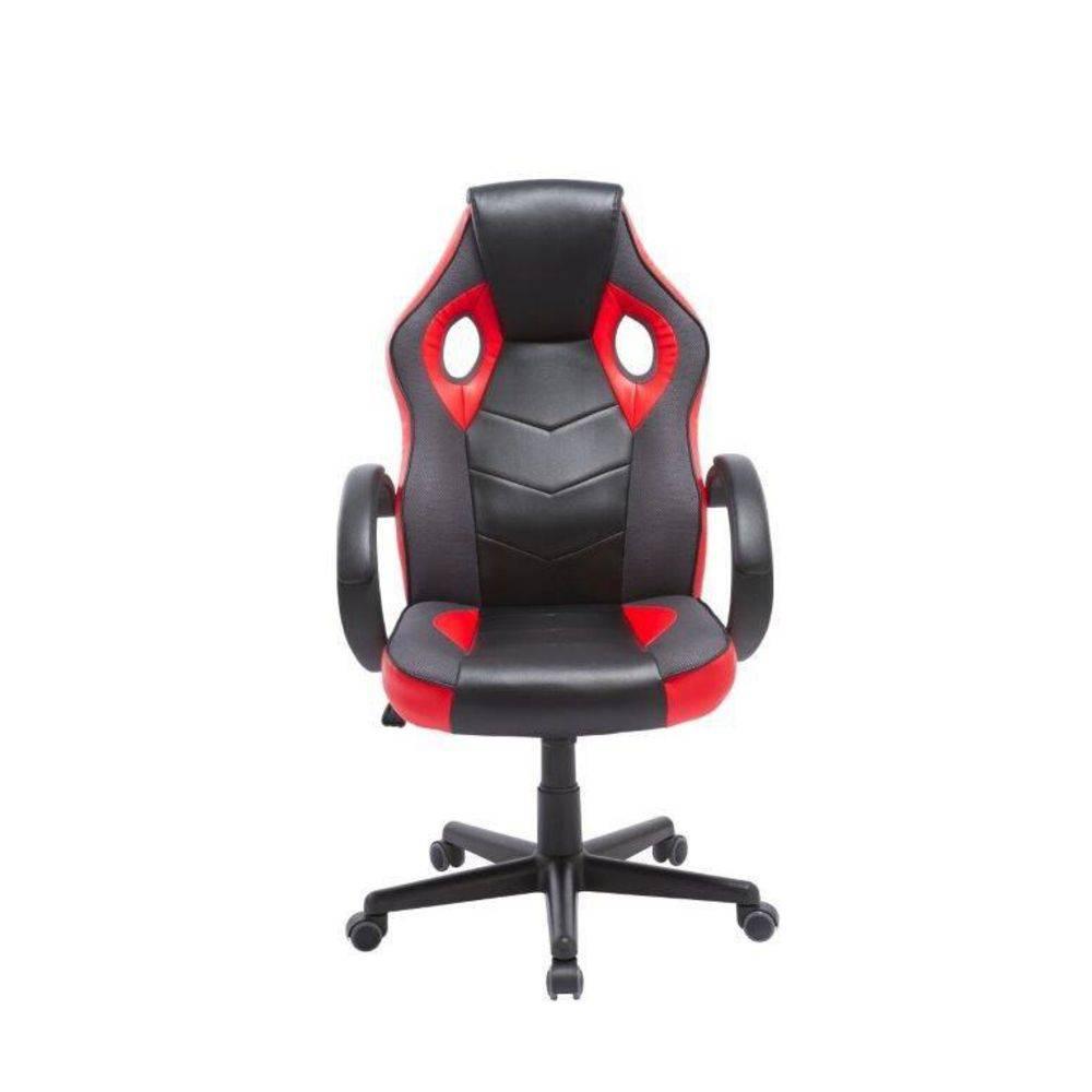 Cadeira Gamer Giratória Preta E Vermelha League PEL-3016