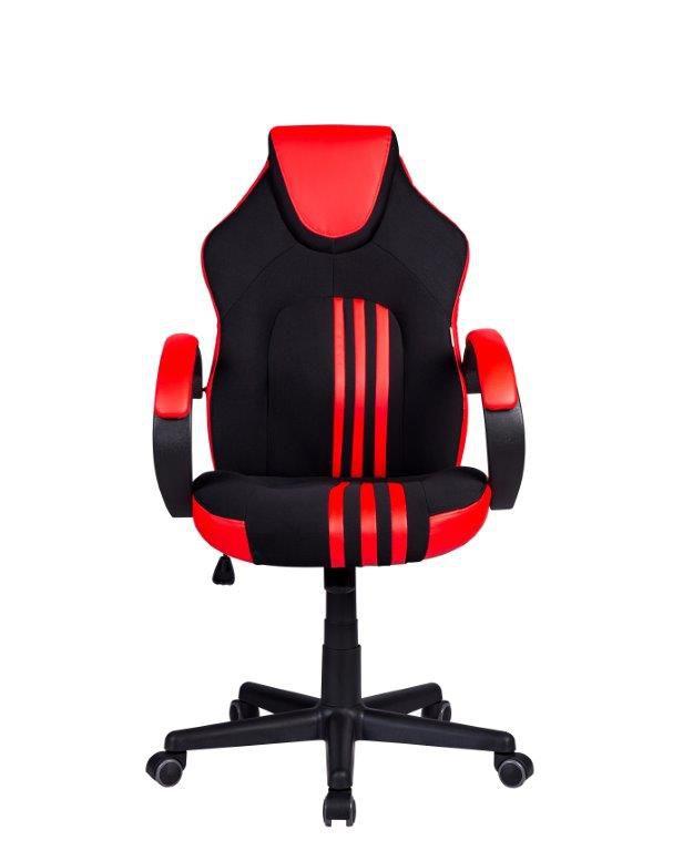 Cadeira Gamer Pelegrin PEL-3005 Tecido Preto Couro PU Vermelho