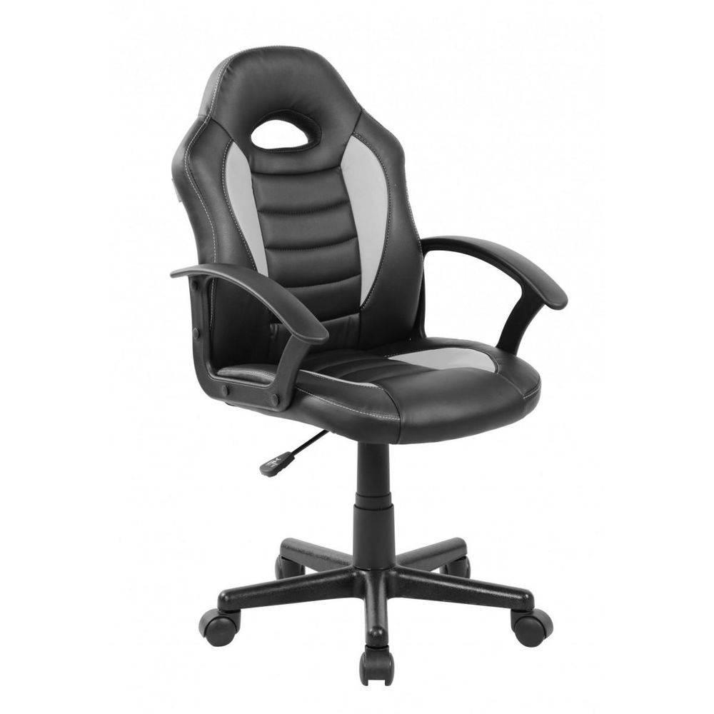 Cadeira Gamer Pelegrin Pel- 9353 Couro Pu Preta E Cinza