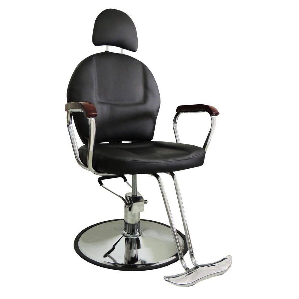 Cadeira Hidráulica Para Salão Em Couro PU Pelegrin PEL-036 - Reclinável