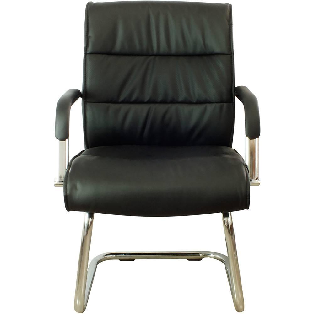 Cadeira Interlocutor Pelegrin Pel-107-1 Couro Pu Preta