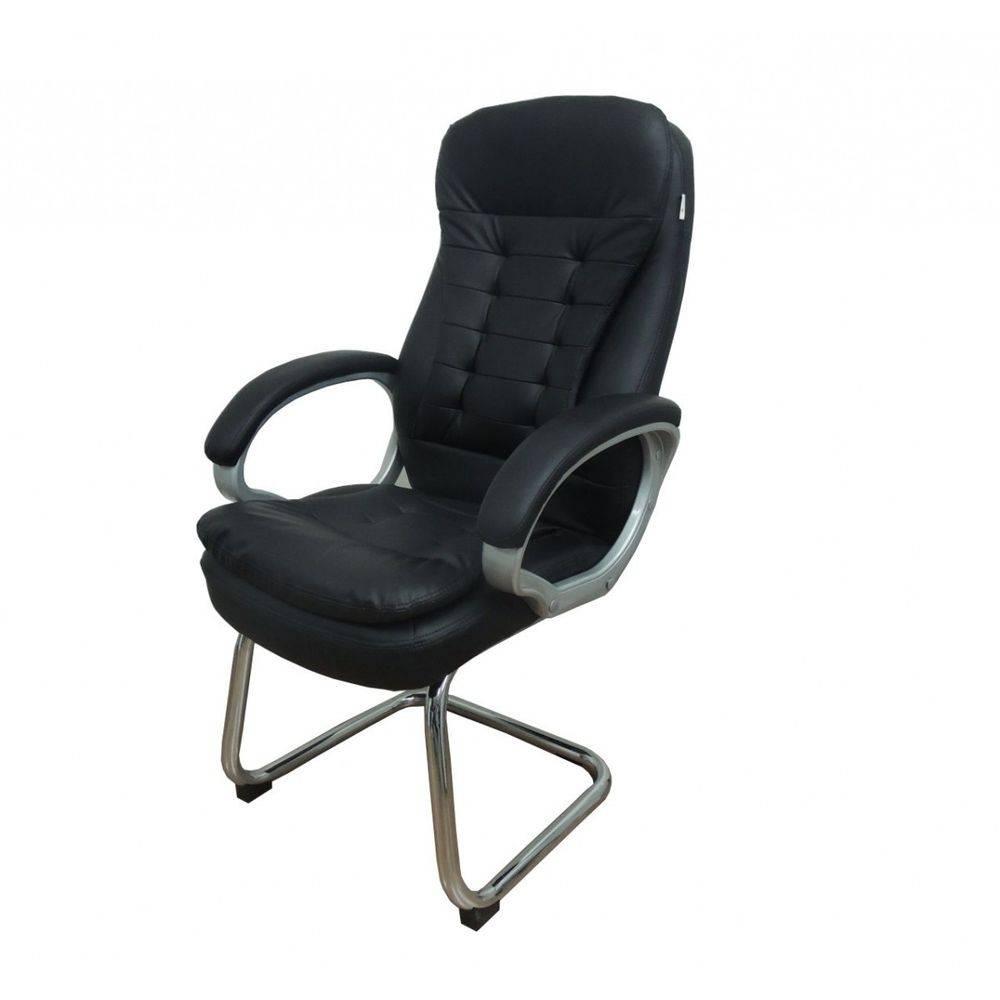 Cadeira Interlocutor Pelegrin Pel-1693V Couro Pu Preta