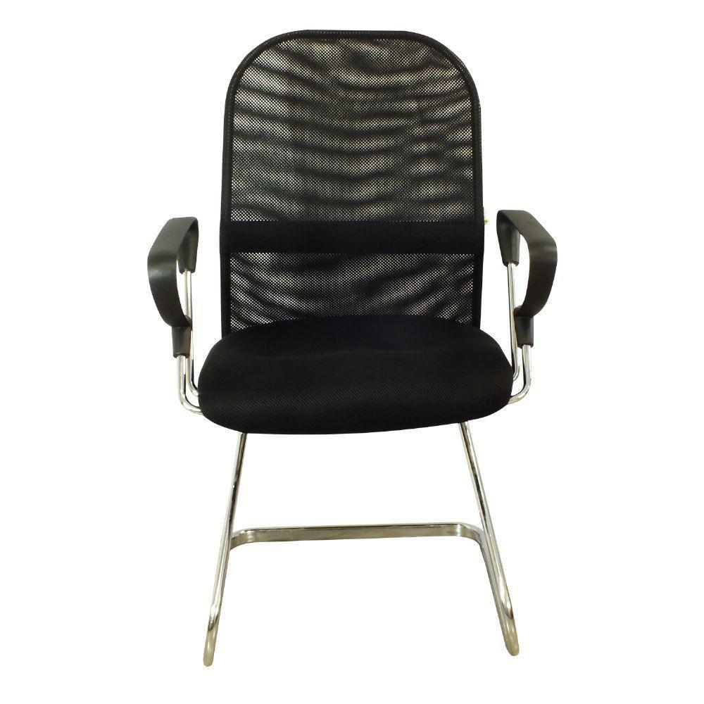 Cadeira Interlocutor Pelegrin Pel-8036 Tela Mesh Preta