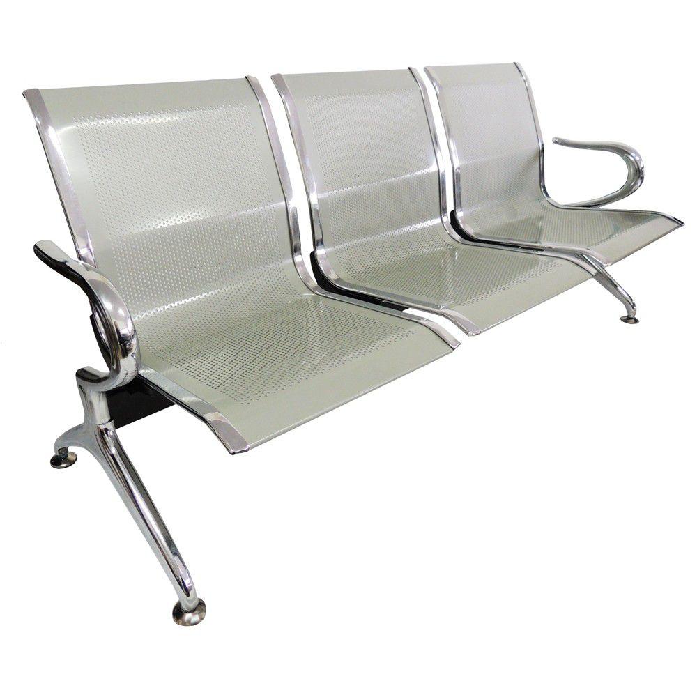 Cadeira Longarina Pelegrin 9601 3 Lugares