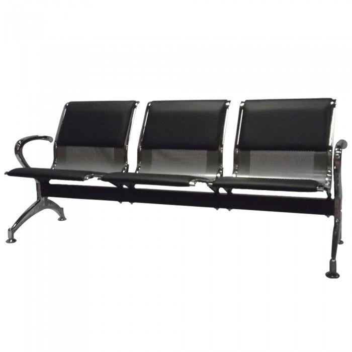 Cadeira Longarina Pelegrin Pel-9601C 3 Lugares