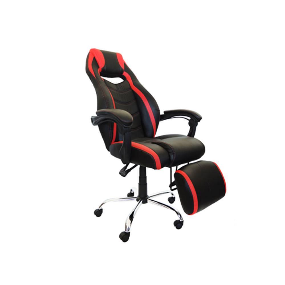 Cadeira Presidente Gamer Couro Pu Preta/vermelha Pel-c215 - Pelegrin