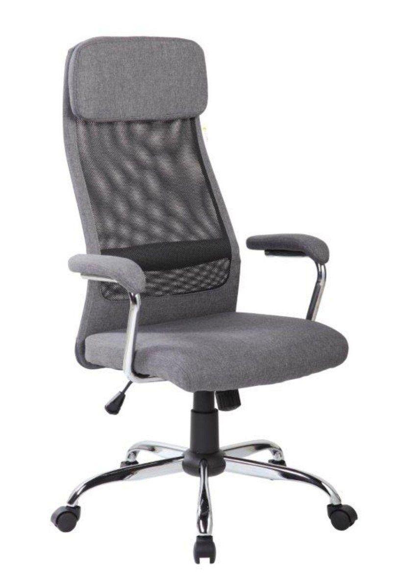 Cadeira Presidente Giratória Pelegrin PEL-9025 - Cinza