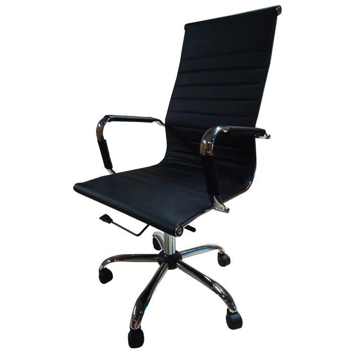 Cadeira Presidente Pelegrin Pel-1190H Couro Pu Preta