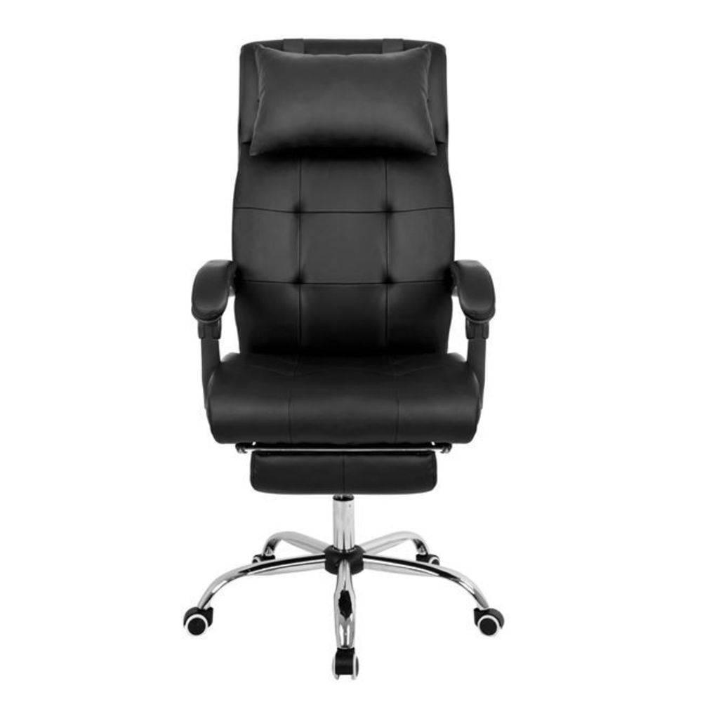 Cadeira Presidente Pelegrin Pel-3022 Couro Pu Preta