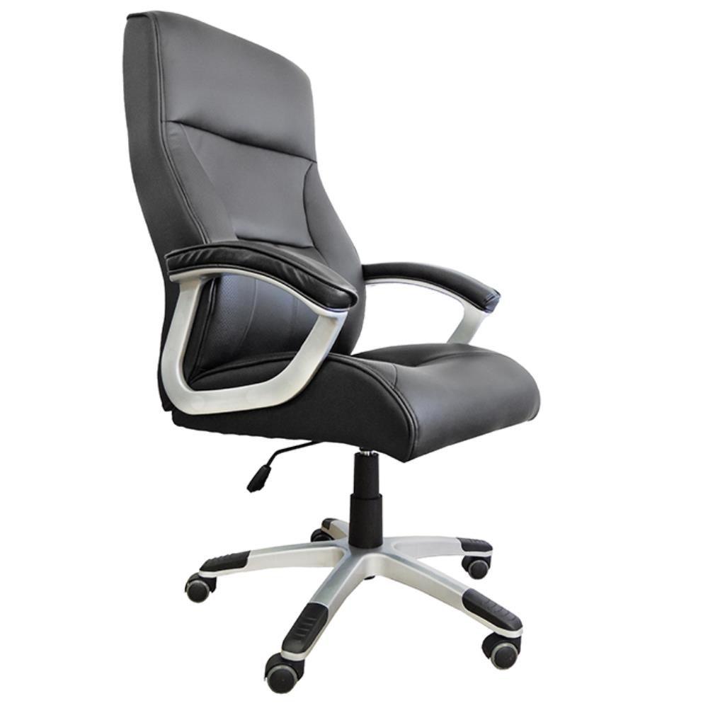 Cadeira Presidente Pelegrin Pel-8028H/3 Couro Pu Preta
