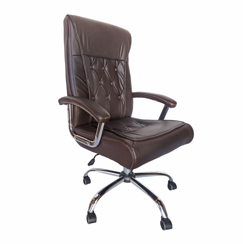 Cadeira Presidente  Pelegrin Pel-8040 Couro Pu Marrom